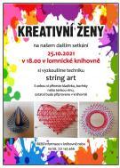 plakát - Kreativní ženy 25.10. v lomnické knihovně